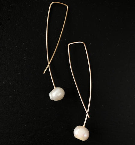 Geo Earrings - Pearl