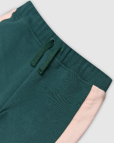 Panel Green and Pink joggers