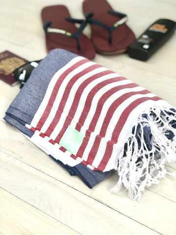 Mariner Striped Hammam Towel