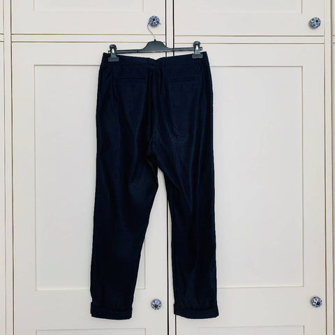 Whistles Navy Tailored Trousers - (UK10)