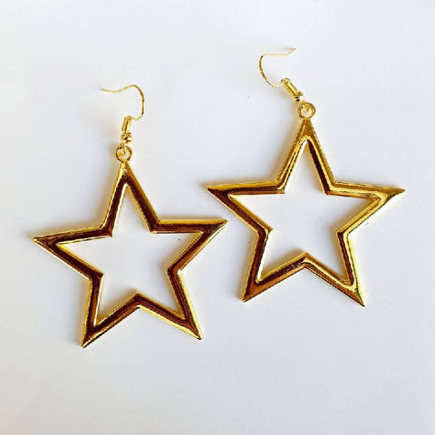 Large Open Star Earrings