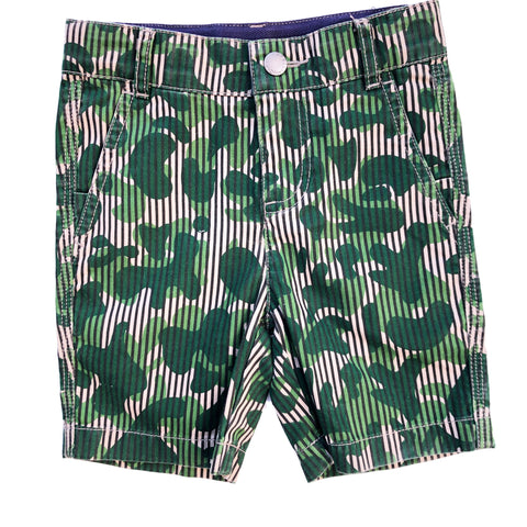 STELLA MCCARTNEY GREEN CAMO SHORTS 2 YEARS
