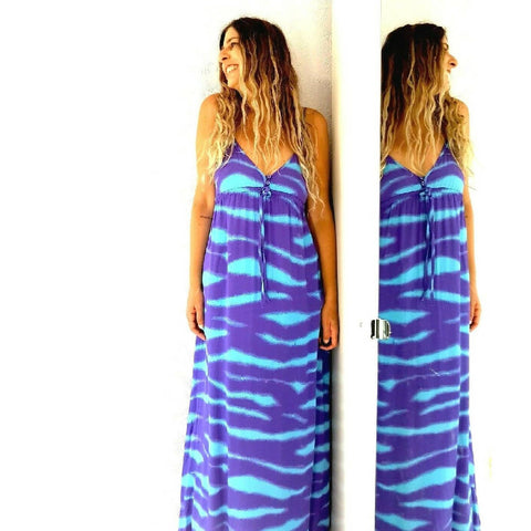 M&S Tie-Dye Maxi Dress 10