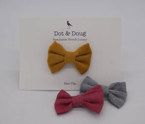 Needlecord Bow Hair Clip