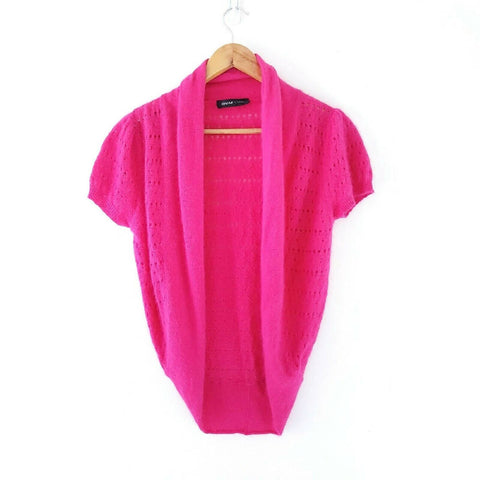 Great Plains Angora Blend Hot Pink Shrug 8 10 12