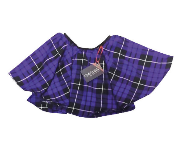 PRETTY DISTURBIA PURPLE TARTAN SKATER SKIRT PUNK GRUNGE ROCKABILLY