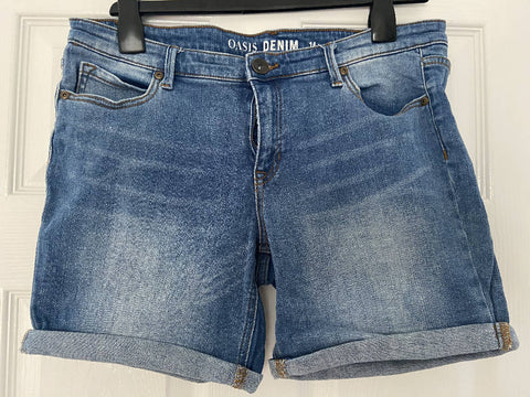 Oasis denim shorts, size 14
