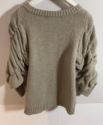 Virginie Castaway Stunning Gather Sleeve Knit size small