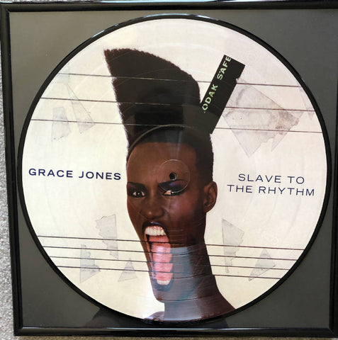 Grace Jones Picture Disc vinyl record wall hanging
