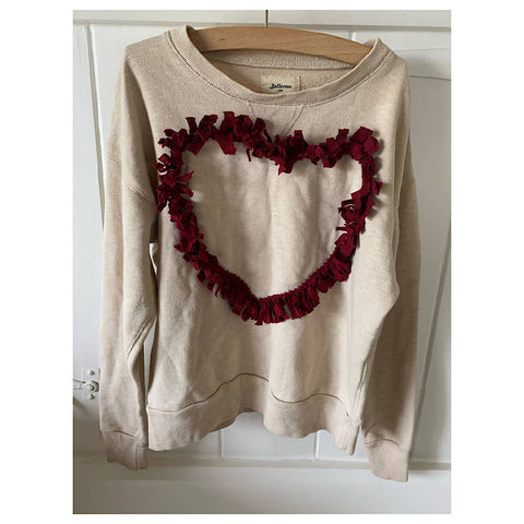 BELLEROSE cream HEART sweatshirt AGE 10