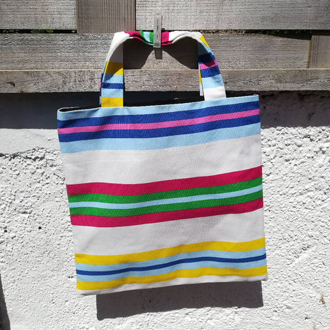 'Almost Square' Shopper - Horizontal Beach Stripes Levi's