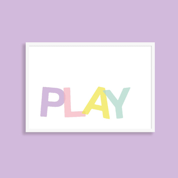PLAY kids art print A5, A4, A3