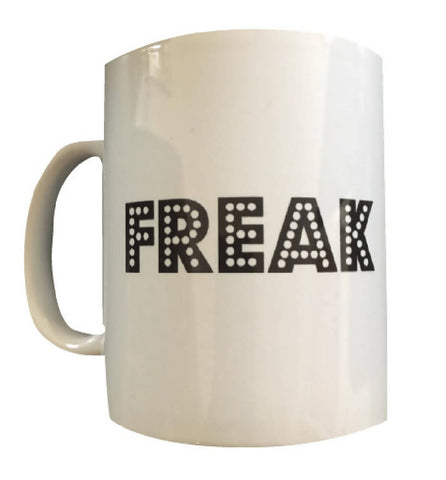 GIFT SET Unisex 'FREAK' Mug & Handmade Black Bandana Face Covering | PRETTY DISTURBIA