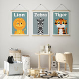 Kids Tiger art print