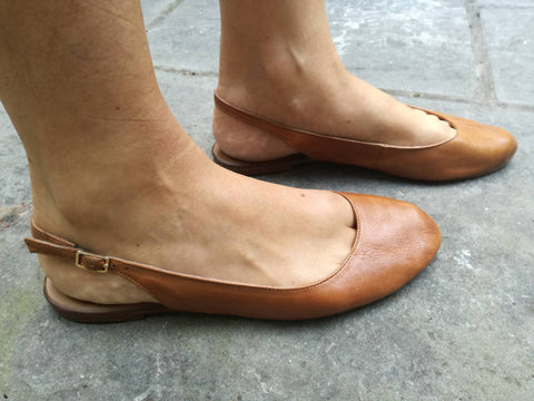 Weekend by John Lewis - Tan Slingback Flats (40)