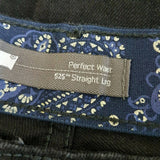 Levi's 525 Perfect Waist Straight Black Jeans W31 L32