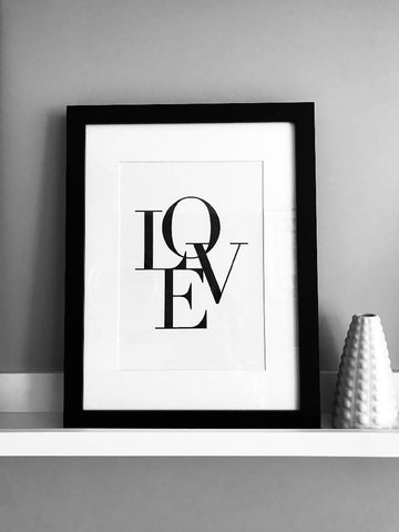LOVE Mono Poster Print - Home Decor - Wall Art