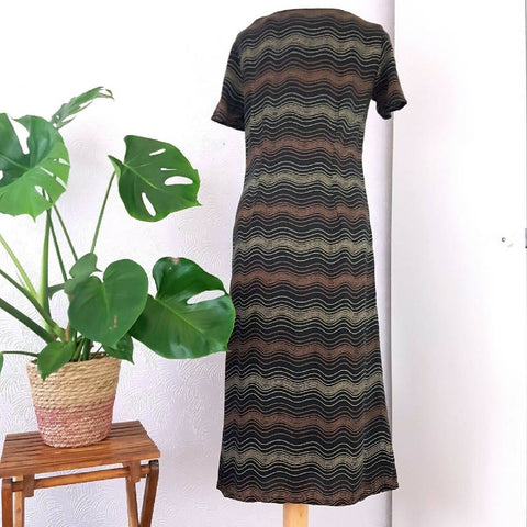 Vintage M&S St Michael Midi Dress 90s 10