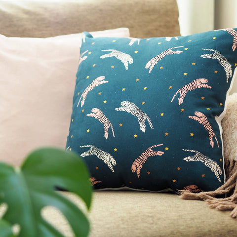 Tigers In The Stars Cushion