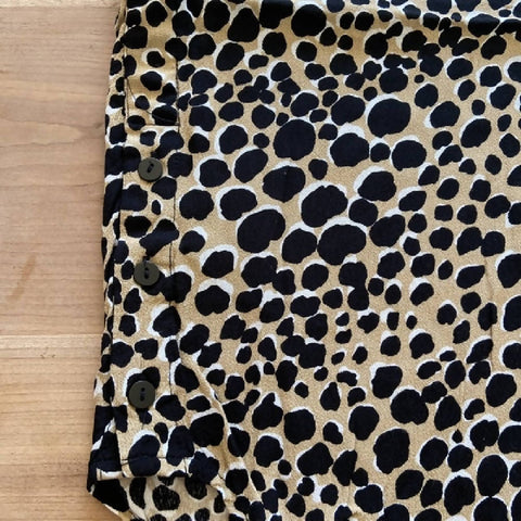 Warehouse leopard spot blouse, size 10