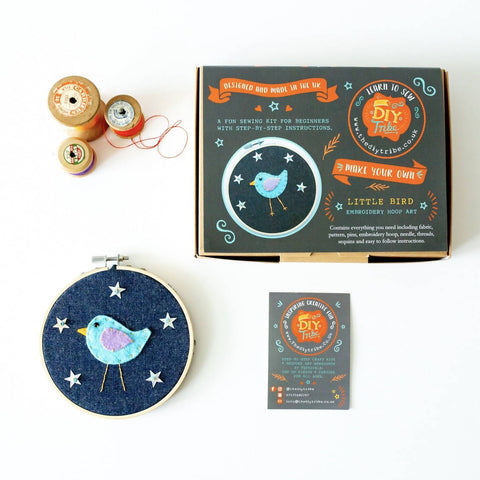 Sew Your Own Little Bird Hoop Kit