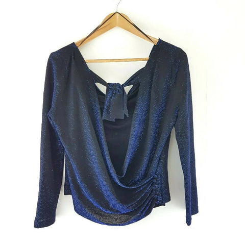 NEW Zara Metallic Off the Shoulder Blouse Medium