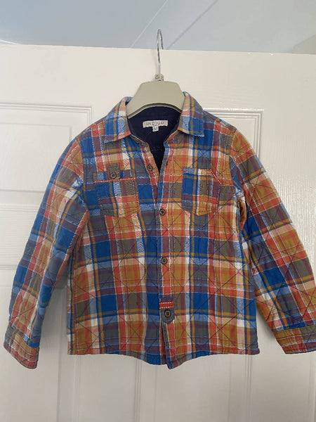 Marks & Spencers boys' padded plaid shirt, age 5-6