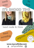 Organic Cotton Snood / Face Covering - Dashes