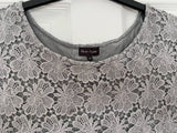 Phase Eight grey lace top, 12