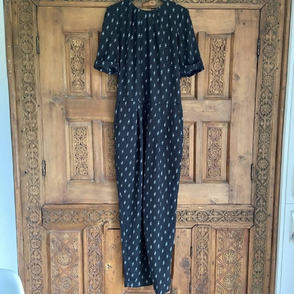 Great Plains black patterned jumpsuit, size L