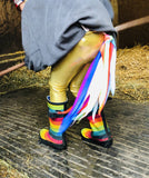 FLINGO UNICORN - Gold Leggings with Rainbow wings