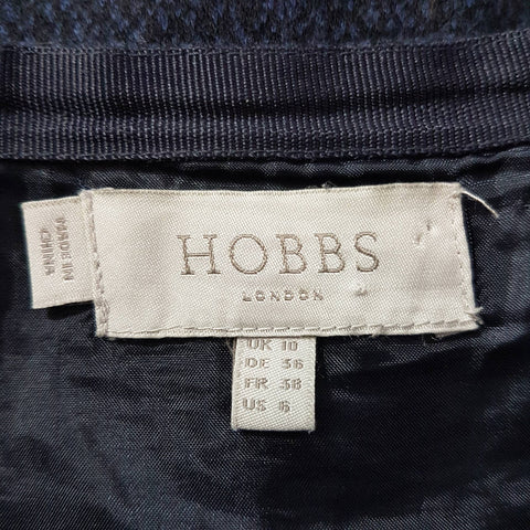 Hobbs Pleated Kilt Skirt Navy 10