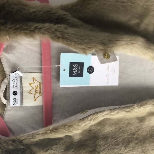 Marie Chantal for M&S Faux Fur Gilet BNWT Age 4-5