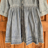 GAP girls denim flared shirt dress, size M
