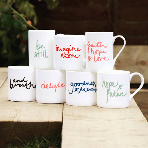 Delight, bone china, Mindful Mug