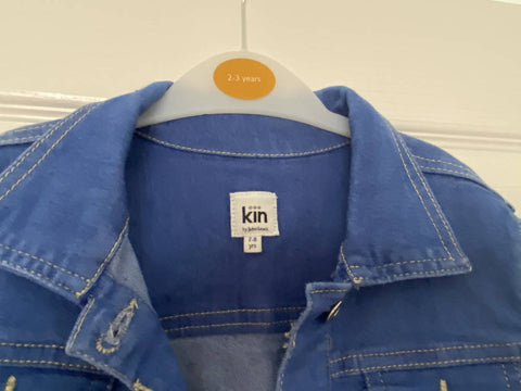 Kin by John Lewis girls' blue denim jacket, age 7-8