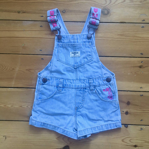 Oshkosh embroidered dungaree shorts (2 yrs)