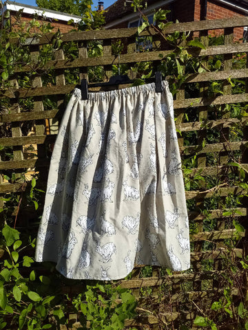 Elastic waist upcycled skirt