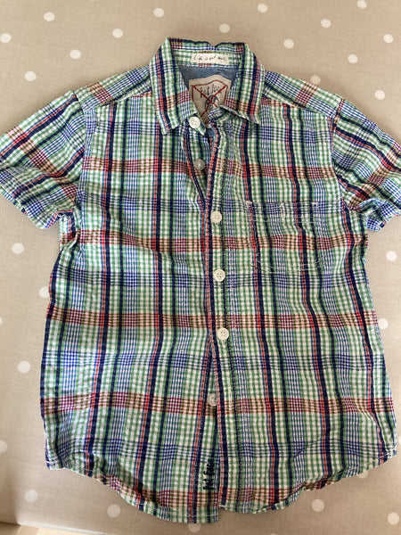 Fat face short sleeved cotton shirt 6-7