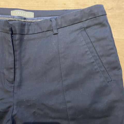 Oasis navy cigarette pants, 14