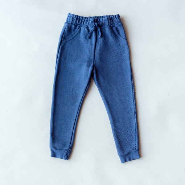 Kids Mix & Match Organic Joggers Blue