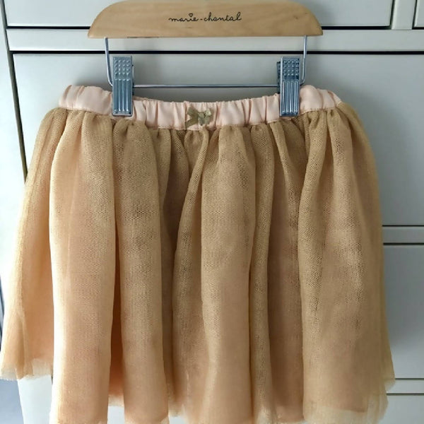 Marie Chantal for M&S tulle layered party skirt in soft apricot, aged 3-4