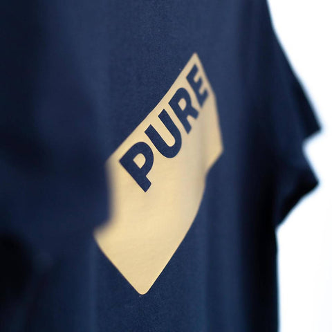 PURE gold navy kids tee
