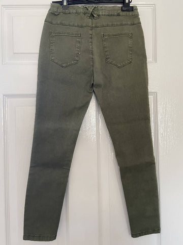 Marks & Spencers girls khaki jeans, age 8-9