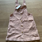 Mango girls pink corduroy pinafore dress, age 10
