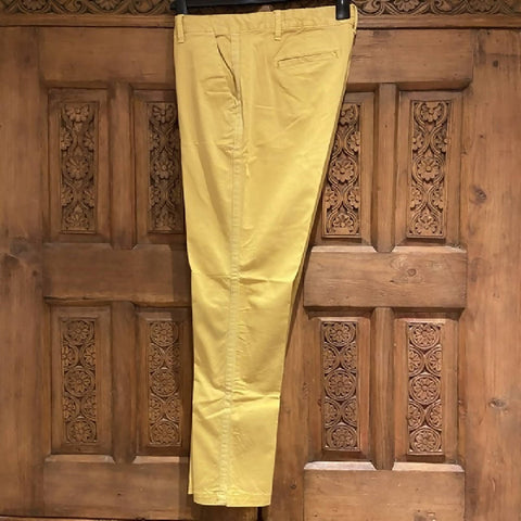 GAP mustard chinos with side stripe, size UK14