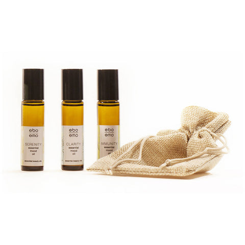 Mood Oil Trio in Jute sack