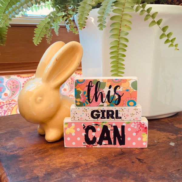 THIS GIRL CAN - WOODEN BLOCKS