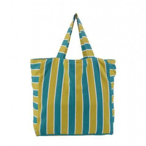 Giant Beach Bag | Green & Marine