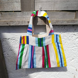 'Biggish' Tote - Vertical Beach Stripes